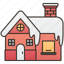 family, home, resident, snow, winter icon