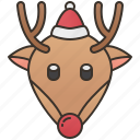 animal, antler, christmas, reindeer, rudolph