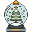 christmas, decorative, gift, globe, snowball icon