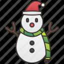 cold, fun, scarf, snowman, winter icon