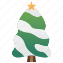 frosty, pine, snow, tree, winter