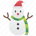 cold, fun, scarf, snowman, winter