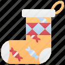christmas, gift, hanging, socks, traditional