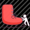 ice blading, ice skates, inline skates, skates shoes, skating boot icon