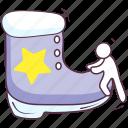 footgear, footwear, winter boot, winter shoe, xmas boot icon