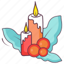 burning candles, candle flame, candle light, candles, paraffins icon