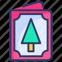 tree, christmas, card, invitation, greeting