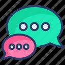 bubble, bubble chat, chat, chat bubble, comments, message, talk