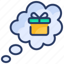 box, cadeau, commerce, gift, giftbox, present, shopping icon