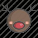 animal, avatar, ball, christmas, deer, reindeer, xmas