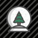 christmas, decoration, ornament, snow globe, snowball, winter, xmas