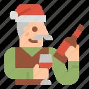 xmas, christmas, character, grandfather, family