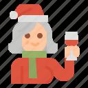 christmas, character, xmas, family, grandmother