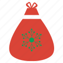 bag, christmas, gift, shopping, snow, winner, winter icon