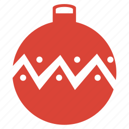 ball, celebration, christmas, decoration, holiday, new, ornament, red, year icon