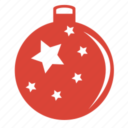 ball, celebration, christmas, decoration, holiday, new, ornament, red, stars, year icon