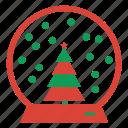 ball, christmas, crystal, decoration, globe, snow, weather, winter icon