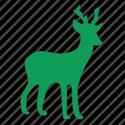 christmas, deer, reindeer, winner, winter icon