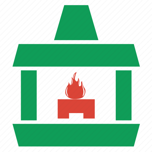 building, christmas, fire, fireplace, heat, home, house, snow, warm, weather, winner, winter icon
