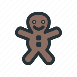 celebration, christmas, cookie, decoration, man, xmas icon