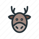 celebration, christmas, decoration, deer, xmas icon