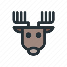 celebration, christmas, claus, decoration, deer, santa, xmas icon