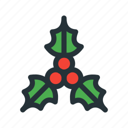 celebration, christmas, decoration, holly, xmas icon