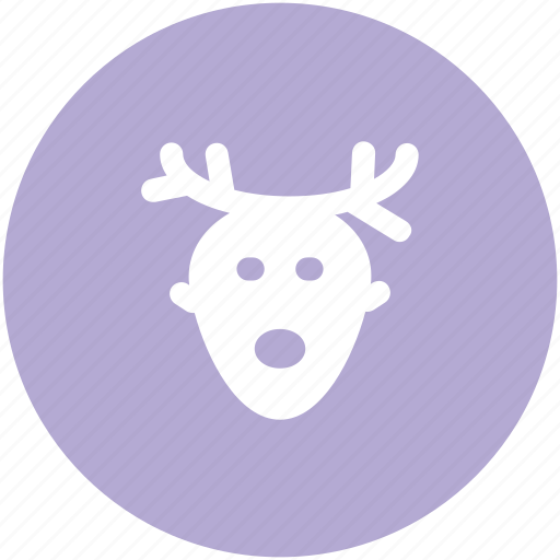 animal head, christmas reindeer, deer head, elk, moose head, reindeer head, rudolf icon