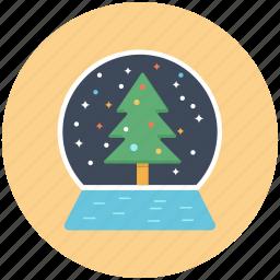 christmas, snow globe, winter, xmas icon