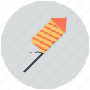 explosion, fire, launching, stripes icon