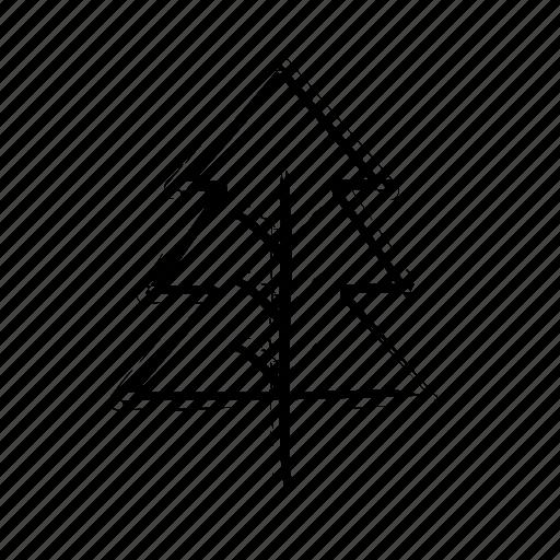 black, christmas, nature, pine, pines, tree, trees, xmas icon