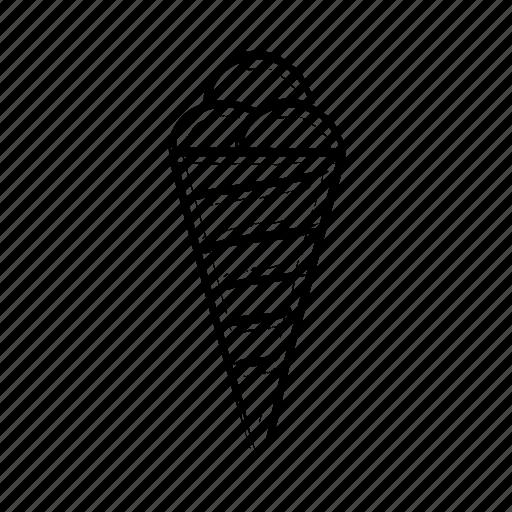 cone, cones, food, foods, ice cream, ice cream cone, ice cream cones, ice creams, symbology icon