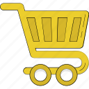 christmas shopping, commerce, hand truck, shopping, shopping cart, shopping trolley icon