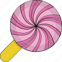 confectionery, lollipop, lolly, sweet, sweet snack icon