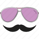 character, costume, funky, funny, hipster mask, moustache, party props icon