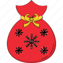 candy sack, christmas candy, goodies pack, sweets sack, toffee sack icon