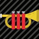 bullhorn, loud hailer, megaphone, speaking speaker, trombone, trumpet, tuba icon