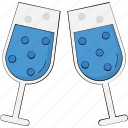alcohol, ceremony, champagne, cheers, toasting, wine glass icon