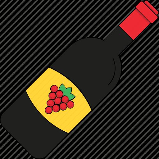 alcohol, champagne bottle, drink, wine, wine bottle icon