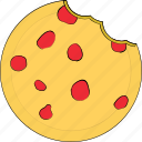 bakery food, biskuit, biskuit bite, cookie, food icon