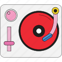 audio, device, gramophone, melody, player, retro, vinyl icon
