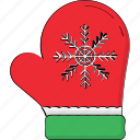 christmas glove, glove, mitten, winter glove, winter wear icon