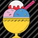 dessert, frozen dessert, ice cream, ice cream cup, ice pop, snow cup, sweet food icon