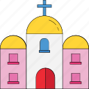 abbey, building, chapel, church, steeple, tabernacle, temple icon