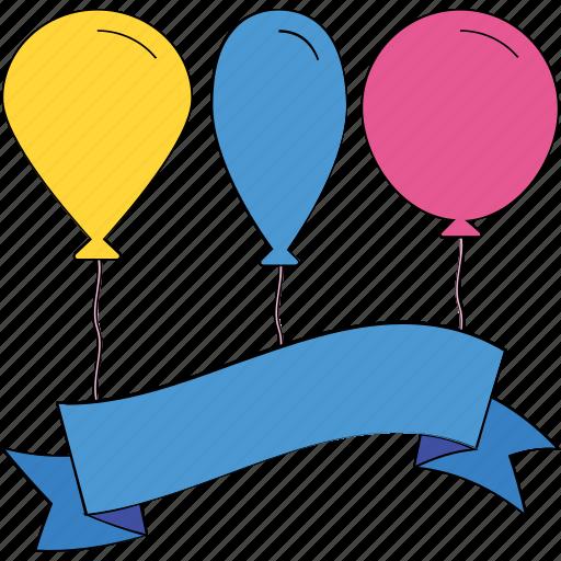 Balloons Birthday Decoration Party Balloon Decorations Icon