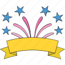 birthday, celebrate, confetti, party, streamers, swirl icon