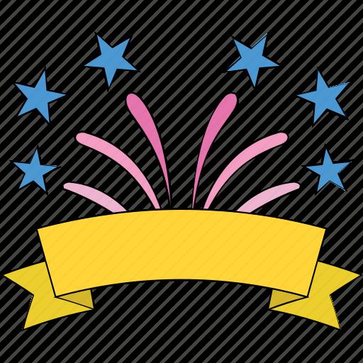 birthday, celebrate, confetti, party, streamers, swirl icon