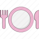cutlery, cutlery set, fork, kitchen, knife, restaurant, tableware icon