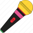 audio, microphone, music, recording, sound, speak, wireless microphone icon