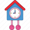 clock, cuckoo bird, cuckoo clock, cuckoo isolated, cuckoo nest, swallow clock icon